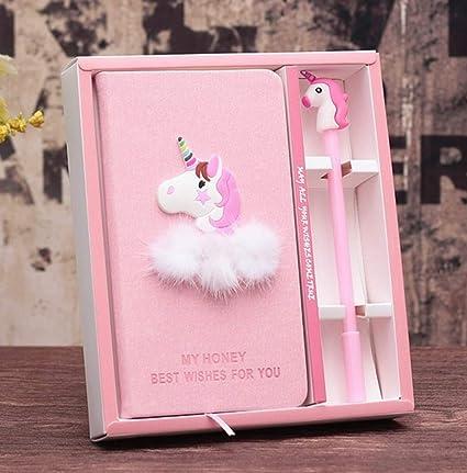 Bonito juego de agenda de papelería y bolígrafo de gel para niñas, diario, regalo de cumpleaños a Navidad para niñas de todas las edades (azul), color ...