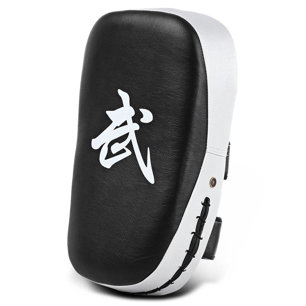 arti marziali giallo//rosso//blu//argento//bianco MMA Zhlymx addensare PU piazza sacco da boxe Pad obiettivo piede training Gear for Muay Thai White Boxe karate taekwondo Kick Shield training