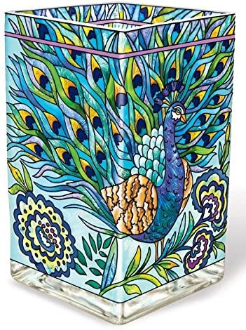 Amia 42018 Hand Painted Glass Vase/Candle Votive