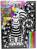 Kreative Kids Colourful Velvet Felt Art Picture Colouring Set For Children ~ Cat