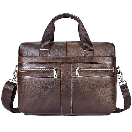 ab729de5ac07 Amazon.com: Laptop Messenger Bag Men's Leather Briefcase Messenger ...