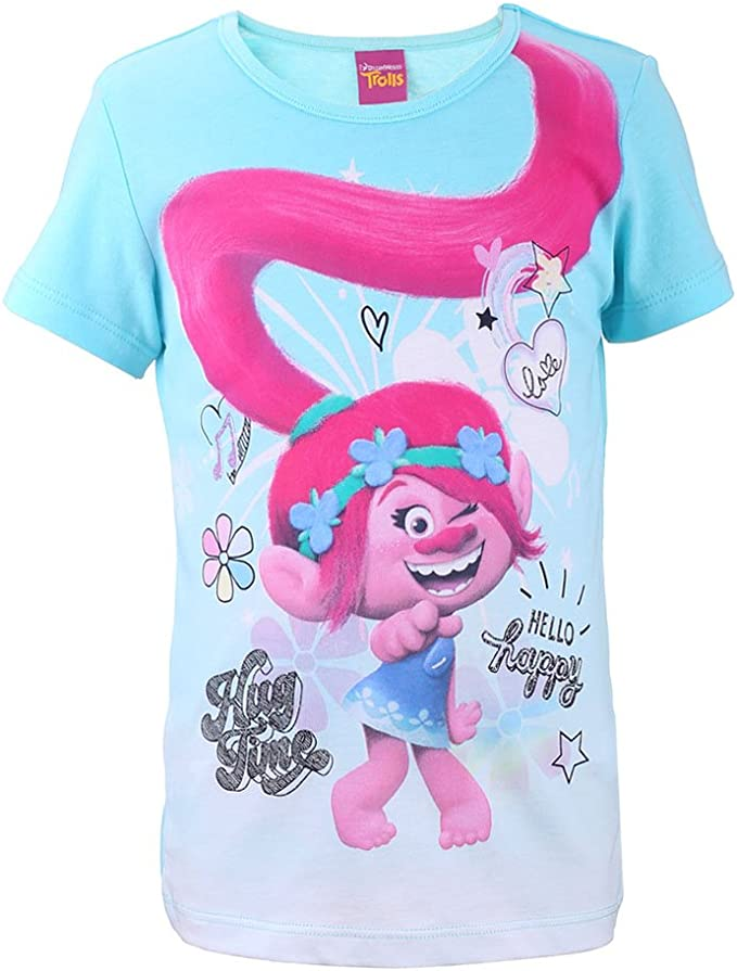 TROLLS Ragazza A Maniche Corte T-shirt