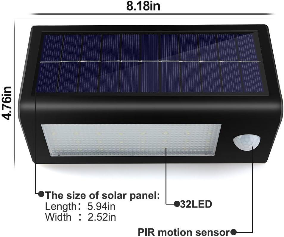 Solar Lights Outdoor,Lacyie 136 LED Super Bright Motion Sensor Light of 4 Sides
