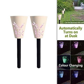 Solar Silhouette Boden Licht Für Farbwechsel Attraktives Garten  Umweltfreundlich, 2er Packung