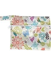 Sanitary Pads, Asixx 6 PCS Reusable Bamboo Cloth Sanitary Menstrual Pads Panty Liner +1 PC Washable Wet Bag