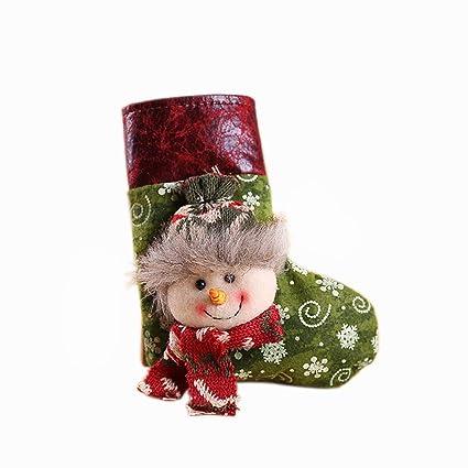 Hosaire 1X Decoraciones de Navidad de Calcetines Medias de Navidad Decoración Casa Colgando Árbol Decoración Regalos Bolsa Santa Claus Muñeco de Nieve Elk ...