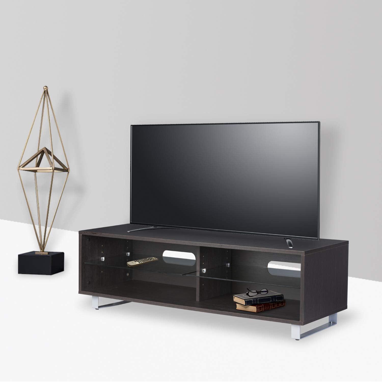 DILO - Soporte de Madera para televisor con 2 estantes Ajustables, Consola de Almacenamiento de Ordenador, Color Negro de hasta 14,5 Pulgadas: Amazon.es: Juguetes y juegos
