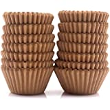 Mini Cupcake Liners 300-Count Natural Baking Paper Cups 1.25 Inch Greaseproof Disposable Muffin Liners for Baking Muffin…