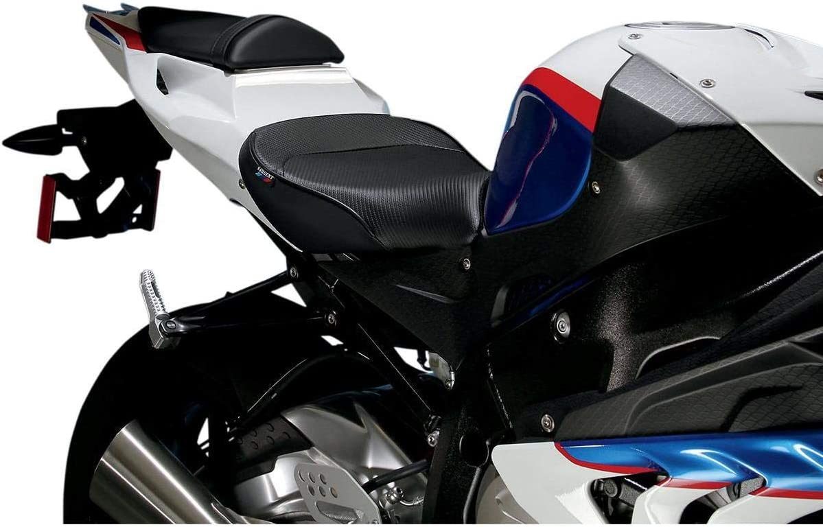 Saddlemen GP-V1 Seat with Pillion Cover Black with Carbon Fiber Look for 12-19 BMW S1000RR