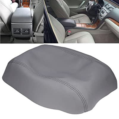 QKPARTS Armrest Center Console Lid Cover Microfiber Leather Fits for Toyota Camry 2007-2011 Gray: Automotive
