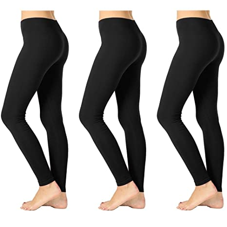 d57c68d17 Image Unavailable. Image not available for. Color  3 Womens Leggings Ankle  Length Footless ...
