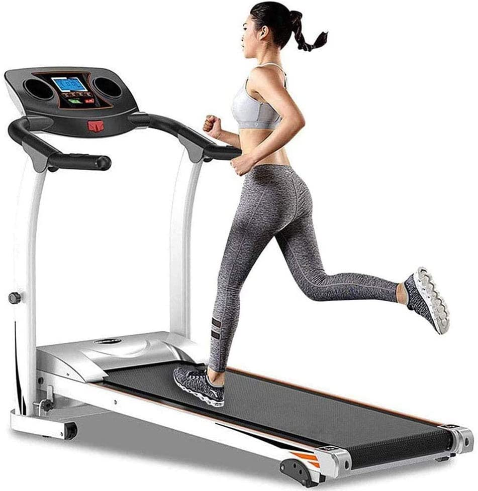 WWYM Mini Folding Fitness Treadmill, Adjustable Incline Jogging Walking Machine, with LCD Displays, for Home Office Gym