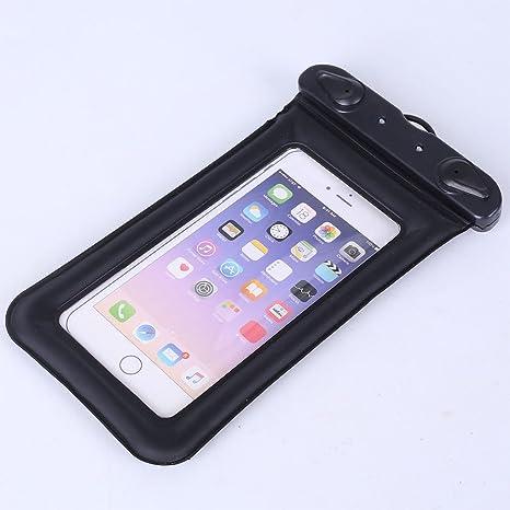 DaoRier Bolso impermeable del teléfono móvil del airbag del flotador, negro, uno para la