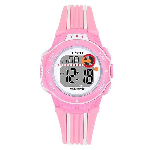 Reloj Digital para Niños Niña,Chicos Chicas Impermeabl Deportes al Aire Libre LED Multifuncionales Relojes