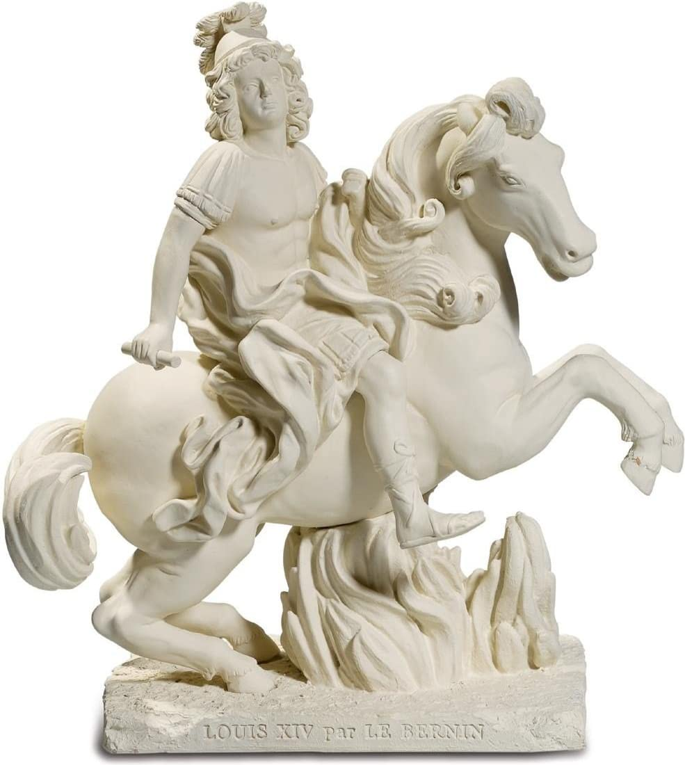 Figura de Luis XIV a por el caballo Bernin-19 cm