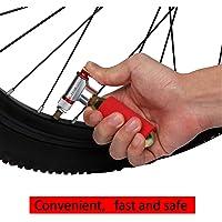 Asdomo - Bomba de Aire portátil para Bicicleta, aleación de Aluminio, Ultraligera, inflador de CO2, Bicicleta Schrader Presta Mini Bomba
