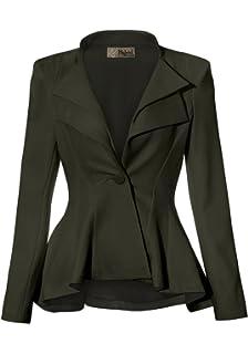 8b382046ae2 HyBrid   Company Women Double Notch Lapel Sharp Shoulder Pad Office Blazer