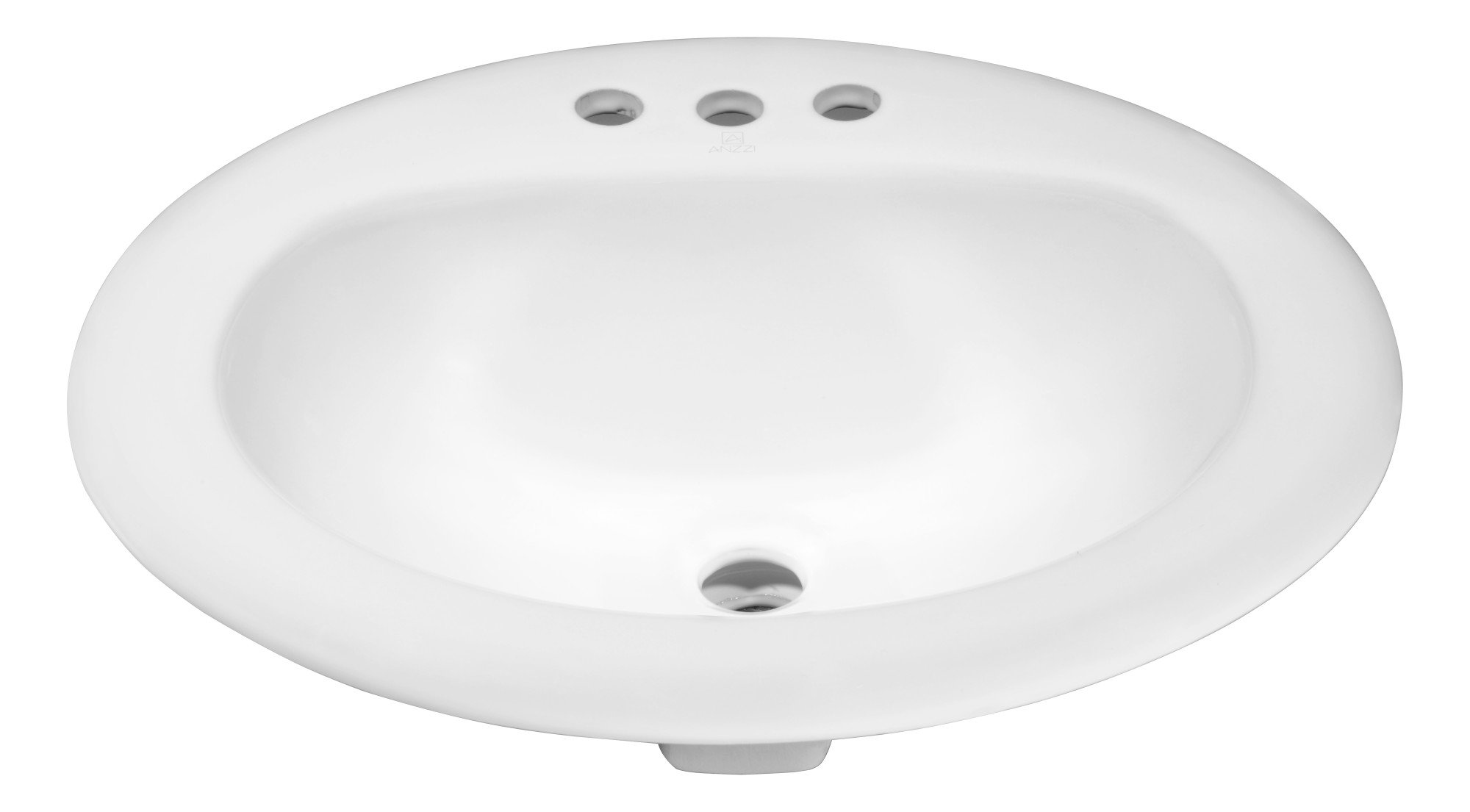 20.5'' Ceramic Drop-In Sink - Glossy White - Cadenza Series LS-AZ097 - ANZZI by ANZZI (Image #1)
