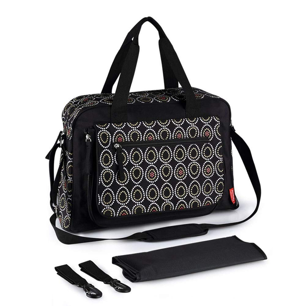 Stroller Organizer Universal Stroller Organizer Bag Waterproof Diaper Bag with Changing Pad for Mom Fits All Baby Stroller Models Parents Stroller Organizer Bag (Color : Black 2, Size : Free Size)