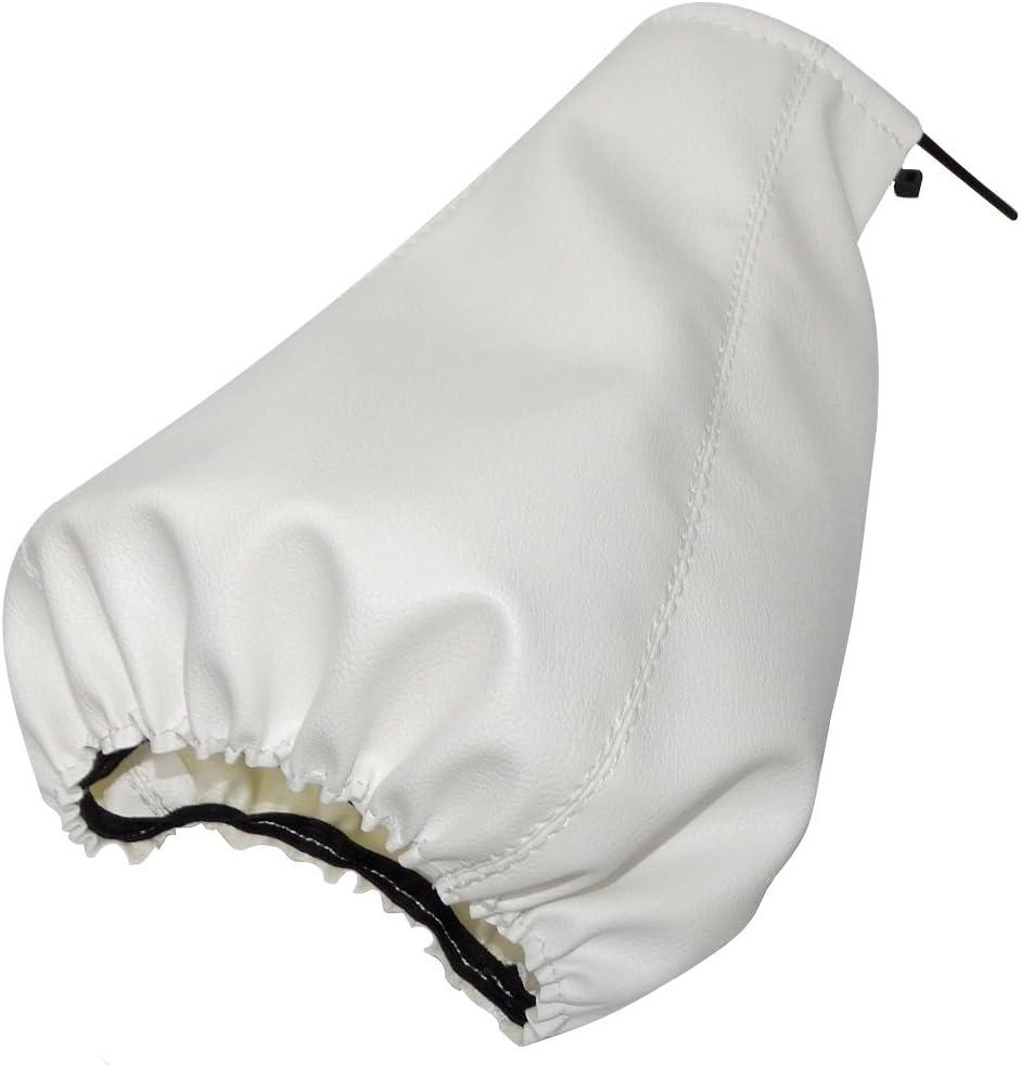 couleur blanc Soufflet de levier de vitesse en simili cuir