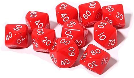 ent-mart trpg Juego RPG Polyhedral dados de tamaño estándar opaco ...