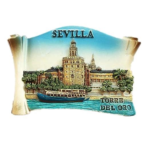 Torre del Oro Sevilla España resina 3d fuerte imán para nevera ...