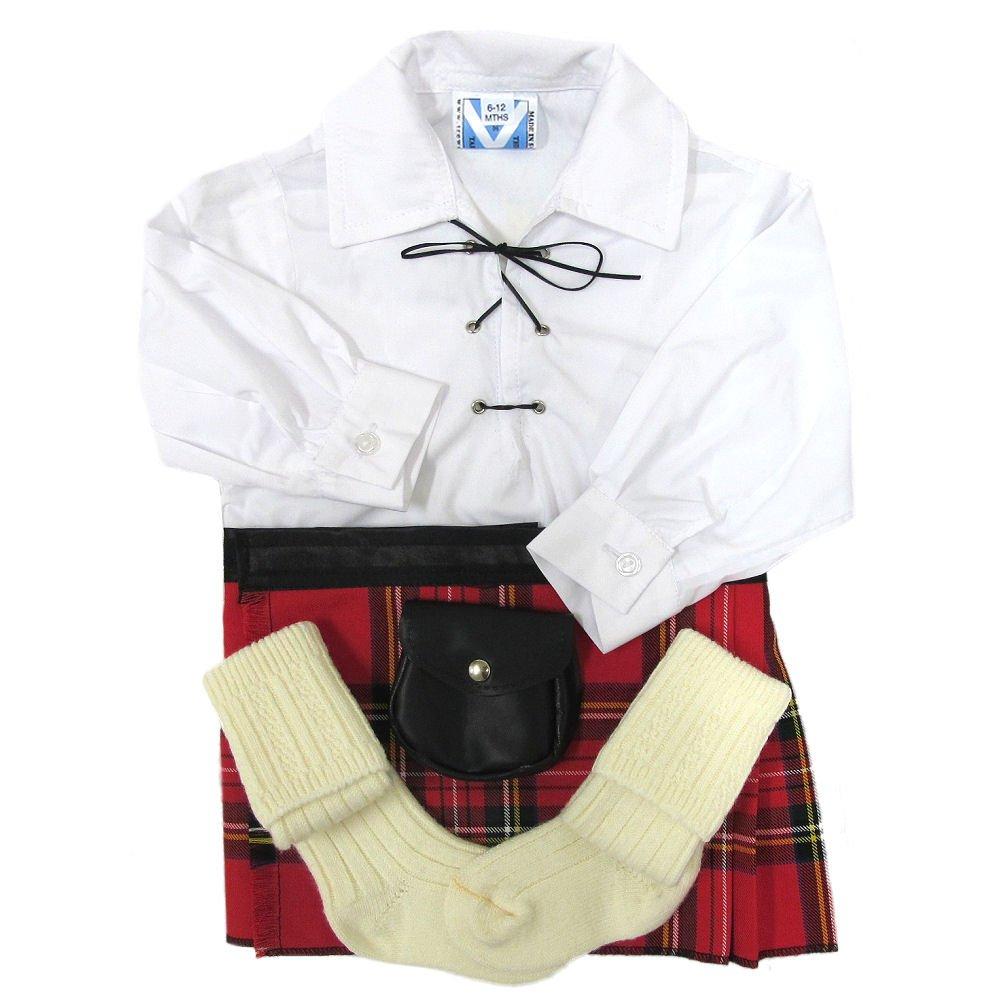 TrewscotsBabies' Royal Stewart Kilt Outfit Age 6 - 12 Months