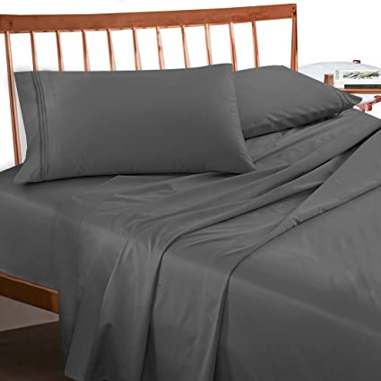 Perfect Premium Queen Sheets Set   Grey Charcoal (Gray) Hotel Luxury 4 Piece Bed