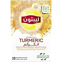 Lipton Herbal Tea with Terrific Turmeric, Caffeine Free, 20 Tea Bags