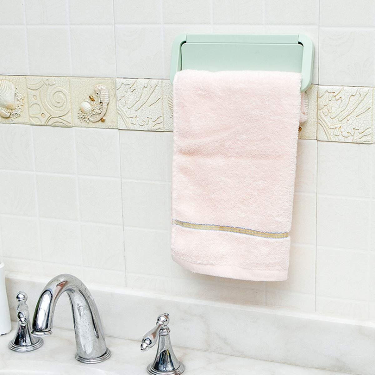 Teabelle toallero Barra plástico Plegable Perchero Adhesivo para Colgar Toalla Trapo y repasador en Cocina baño Soporte Autoadhesivo para Puerta Pared ...