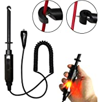 vinmax Auto Car Truck Wire Piercing Cord Voltage Circuit Tester DC 6V/12V/24V Hook Probe Test Light Pencil with Light Indicator