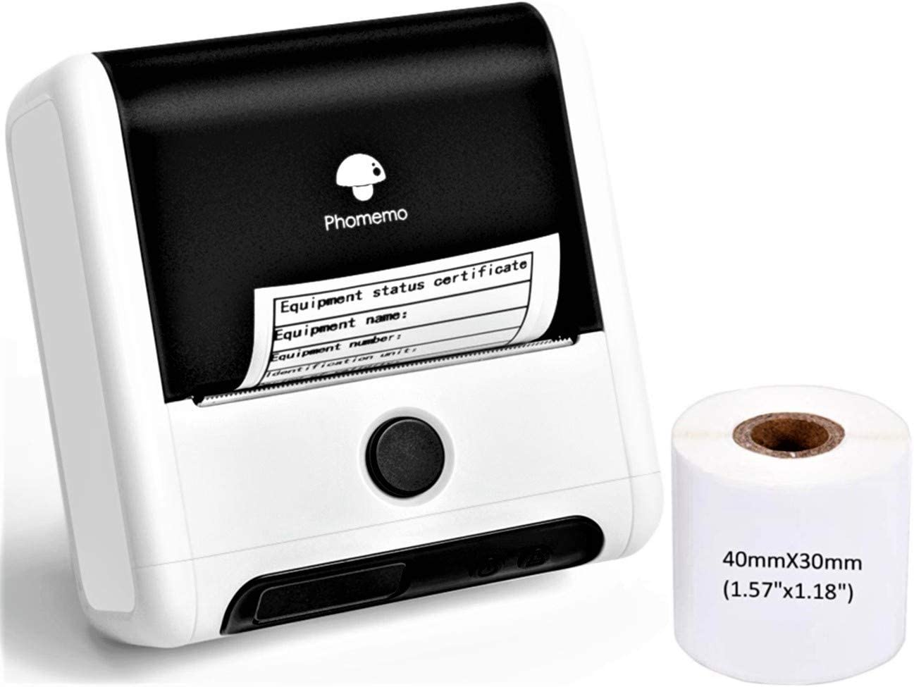 Phomemo-M200 Label Maker - 3 Inch 80mm Bluetooth Thermal Label Printer for Android & iOS System for Labeling, QR Code, Barcode, Mailing, Images and More Use for Small Business,Retailing- White