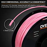OVERTURE PETG Filament 1.75mm with 3D Build Surface 200 x 200 mm 3D Printer Consumables, 1kg Spool (2.2lbs), Dimensional Accuracy +/- 0.05 mm, Fit Most FDM Printer, Pink