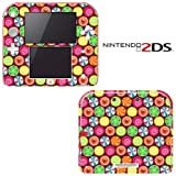 Candy Clover Strawberry Fruit Pattern Decorative Video Game Decal Cover Skin Protector for Nintendo 2Ds