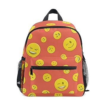 Mochilas para niños con diseño de emoticono sin costuras, mochila escolar para niños y niñas: Amazon.es: Hogar