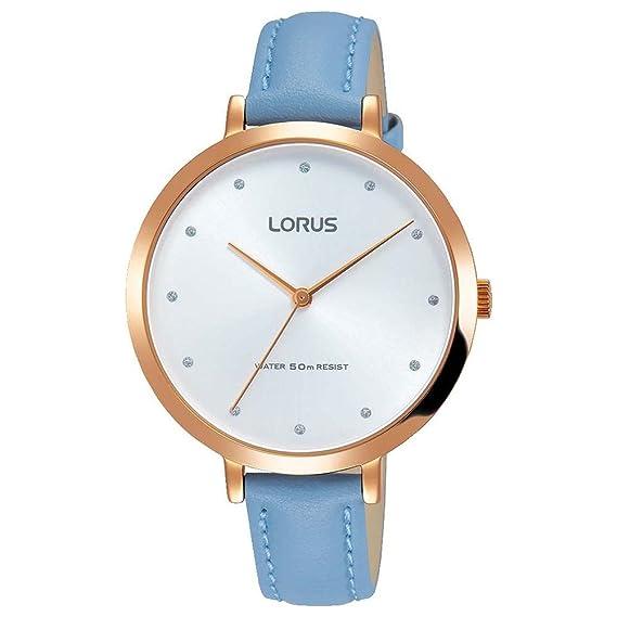 Lorus Reloj Analógico para Mujer de Cuarzo con Correa en Cuero RG232MX9: Amazon.es: Relojes