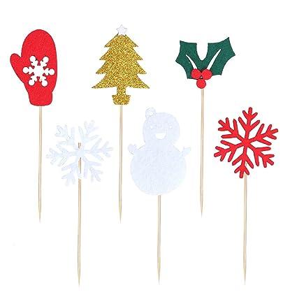 Amazoncom Bestoyard 6pcs Snowman Snowflake Glitter Xmas
