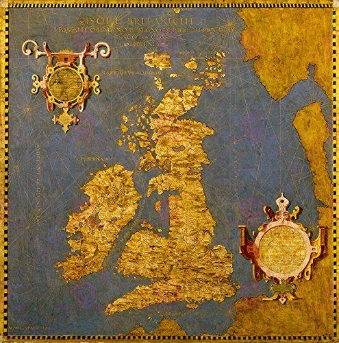 Map Danti Gold Atlas British Isles Old Large Poster Print