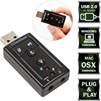 Oxyura USB Sound Card Audio Adapter with Mic for Windows and Mac