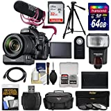 Canon EOS 80D Wi-Fi Digital SLR Camera & 18-135mm IS Lens Video Creator Kit + PZ-E1 Zoom Adapter + RODE Mic + 32GB, 64GB Card + Battery + Case + Tripod + Flash Kit