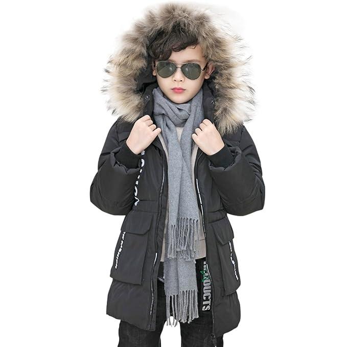 d02d3544c Kids Girls Boys Winter Hooded Coat Padded Warm Faux Fur Trim Hoodie Puffer  Down Jack Outwear: Amazon.co.uk: Clothing