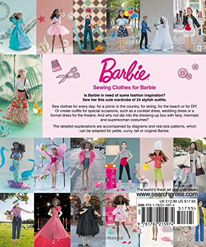 Sewing Clothes For Barbie 24 Stylish Outfits For Fashion Dolls