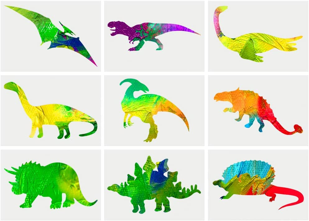 Chenkaiyang Dinosaur Stencils Reusable Large Kids Stencil Template Animals Painting Template Dinosaur Drawing Stencil Scale for Painting on Wood Wall Glass Paper(6 Pcs)