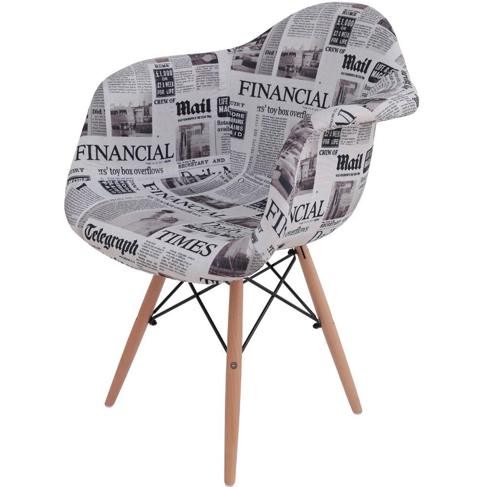 椅子 イームズチェア デザイナーズ リプロダクト パッチワーク英字 DN1002 B01JFG6BIE 英字 英字