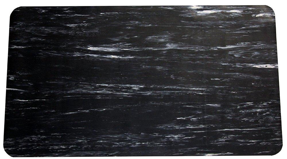 2 x 3 Durable Grand-Stand Vinyl Anti-Fatigue Floor Mat Marble Black