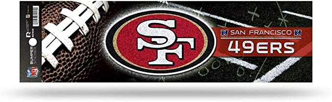 Amazon Com Rico Industries Nfl San Francisco 49ers Decaldecal Bumper Sticker Glitter Team Colors One Size Clothing