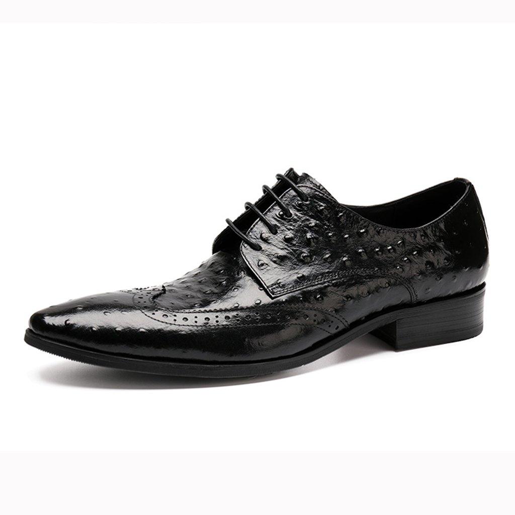 Zapatos Clásicos de Piel para Hombre Zapatos de Cuero para Hombres Ropa Formal Zapatos de Boda con Cordones (Color : Negro, Tamaño : EU38/UK5.5) EU38/UK5.5|Negro