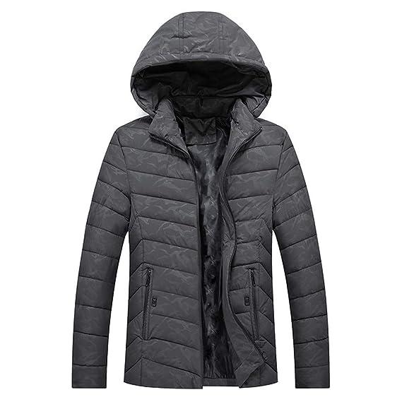 Winwintom Invierno para Hombre Camuflaje Hoodie Coat, Chaqueta De Invierno Hombre Chaqueta De Pluma Hombres Abrigo De Invierno Abrigo Parka Deportiva ...