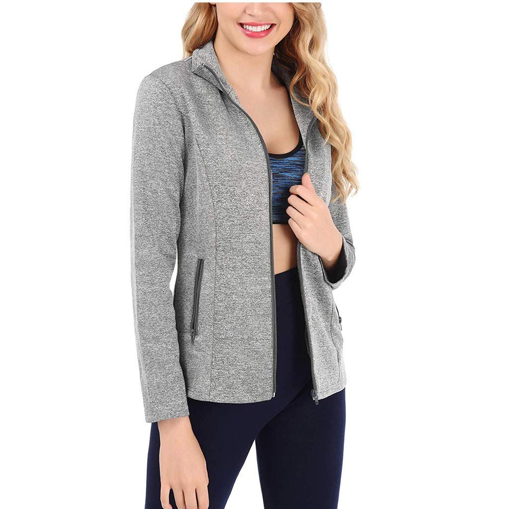 S//2XL TOTAMALA Women Lightweight Jackets Zipper Pockets Running Sports Windbreaker Jacket Sweatshirt