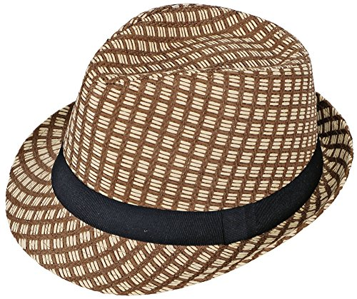 Simplicity Trilby Summer Beach Sun Straw Fedora Hat w/ Band